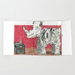 Rock Rhino Beach Towel