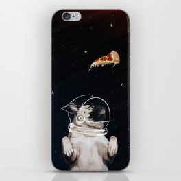 Pug and Pizza Space iPhone Skin