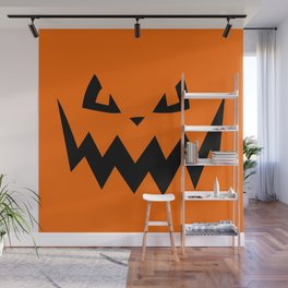 """Harkness"" Jack O'Lantern - Halloween, Pumpkin, Orange, Black Wall Mural"