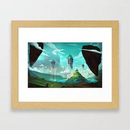 Road to Oz. Framed Art Print