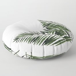 Tropical Exotic Palm Leaves I Floor Pillow