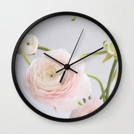 Floral and Vintage Ranunculus III Wall Clock