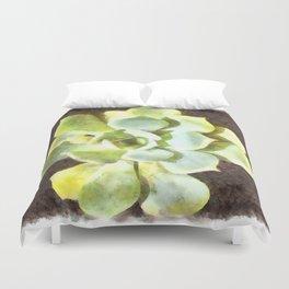 Succulent Garden Plant With Dew Duvet Cover