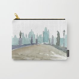 Charles Bridge Prague Lonely Silhouette Carry-All Pouch