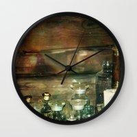 fullmetal alchemist Wall Clocks featuring The Alchemist by Jenndalyn