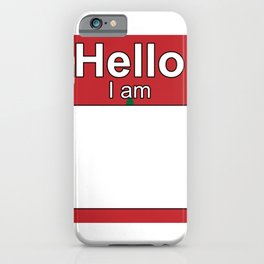 Hello I am from Morocco iPhone Case