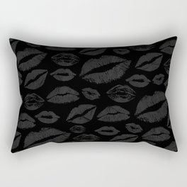 Dark Lips Rectangular Pillow