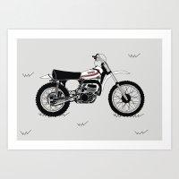 1973 Yamaha YZ250 Art Print