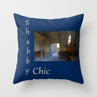 shabby chic Throw Pillows featuring Shabby Chic by  Linda Prewer ART