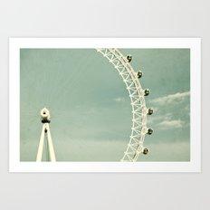 London-eye Art Print