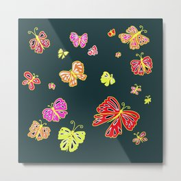 Flight of the Butterfly Metal Print