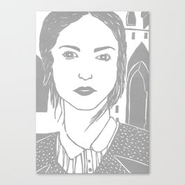WUTHERING HEIGHTS - LINO (GREY VERSION)  Canvas Print
