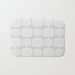 Mid Century Modern Atomic Rings Pattern 731 Gray Bath Mat