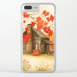 Smoky Mountain Cabin Clear iPhone Case