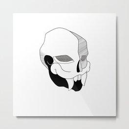 mayan skull Metal Print
