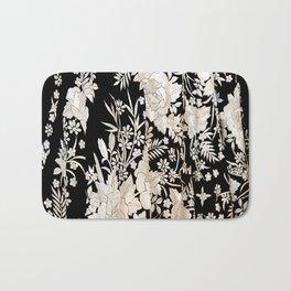 Black and White Flowers by Lika Ramati Bath Mat