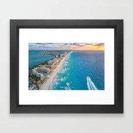 Cancun suns Framed Art Print