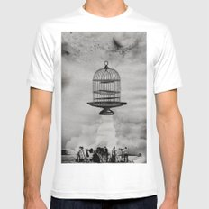 spaceship jail Mens Fitted Tee White MEDIUM