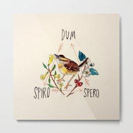 Dum Spiro Spero Metal Print