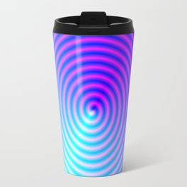 Coiled in Blue and Pink Travel Mug