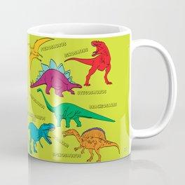 Dinosaur Print - Colors Coffee Mug
