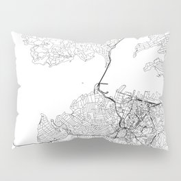 Auckland White Map Pillow Sham
