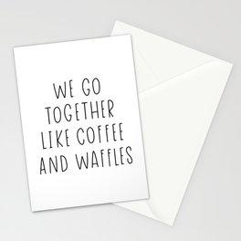 like coffee and waffles Stationery Cards