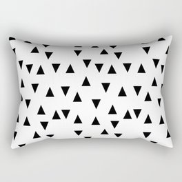 Triangles black and white modern design Rectangular Pillow