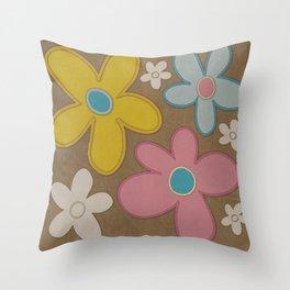 Faded Flower Throw Pillow
