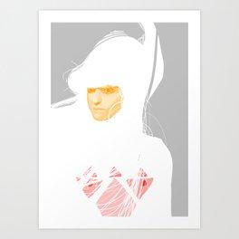 Untitled digital drawing 03 Art Print