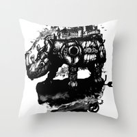 discworld Throw Pillows featuring the island by Steven Toang