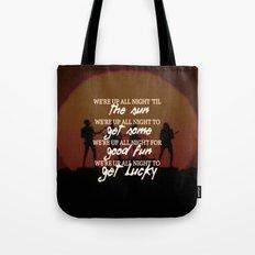 Get Lucky ; Daft Punk Tote Bag
