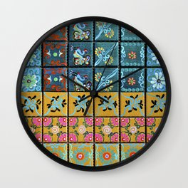 """Country Patchwork (i)"" by ICA PAVON Wall Clock"
