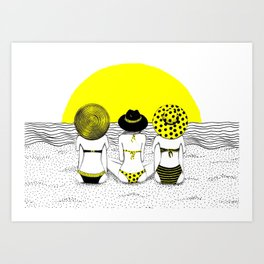 Summer Sunsets Art Print