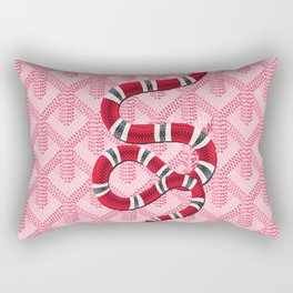 Goyard Pink Snake Rectangular Pillow