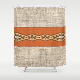 Southwestern Earth Tone Texture Design Shower Curtain