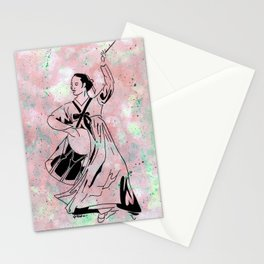 Mago's Janggu Chum  (Traditional Korean dancer with drum) Stationery Cards