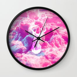 Deer In The Clouds Wall Clock