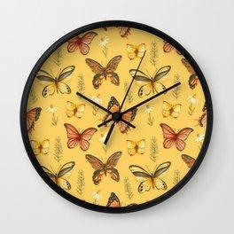 Butterfly Totem Pattern Wall Clock
