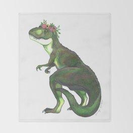Pretty T-Rex Throw Blanket