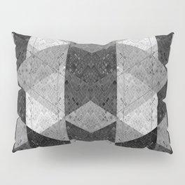 Snake skin , black Pillow Sham