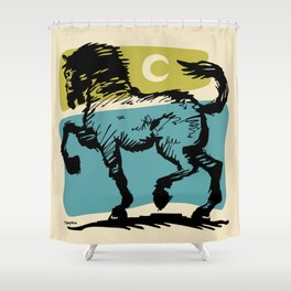 Crescent Horse 2 Shower Curtain