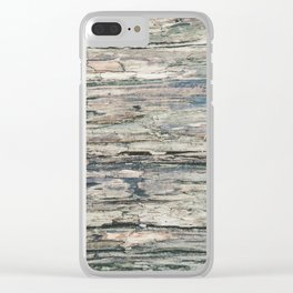 Old Rotten Wood Clear iPhone Case