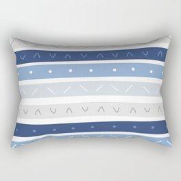Bowie Blue Stripe Rectangular Pillow