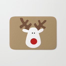 Christmas Reindeer-Brown Bath Mat