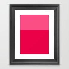 Color Block Pink Framed Art Print