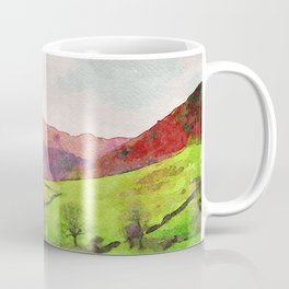 Green Grasmere Hillside, Ambleside, Lake District UK Coffee Mug