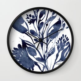 Organic Impressions No. 109 by Kathy Morton Stanion Wall Clock