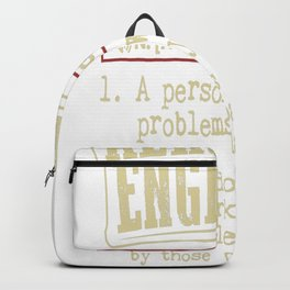 Aerospace Engineer Funny Dictionary Term Backpack
