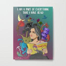 Story Of Storybook Reader Metal Print